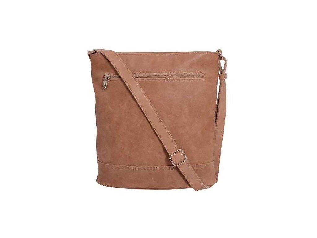 Kožená taška přes rameno Hajn - světle hnědá
