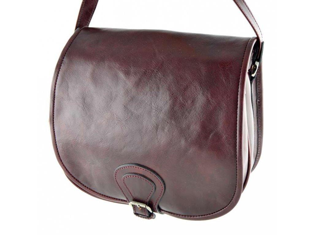 Klopnová lovecká kožená taška Silvercase - rubínová