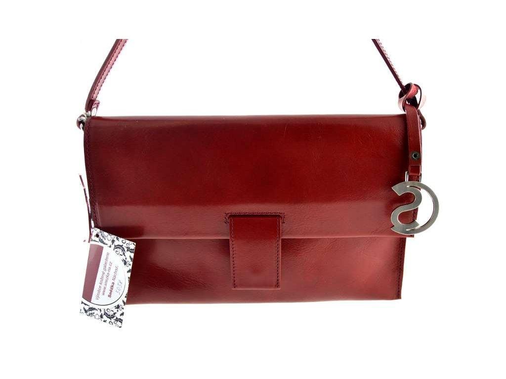 Kožené psaníčko Silvercase - červené