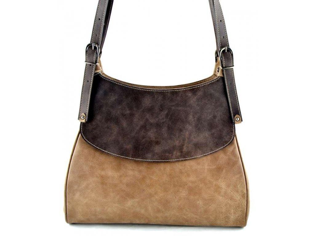 Elegantní kožená kabelka Silvercase - světle hnědá