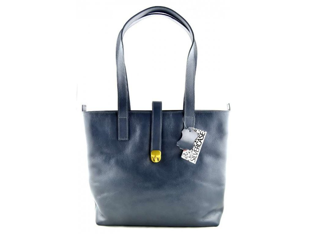 Velká kožená kabelka Silvercase - holubí šedá