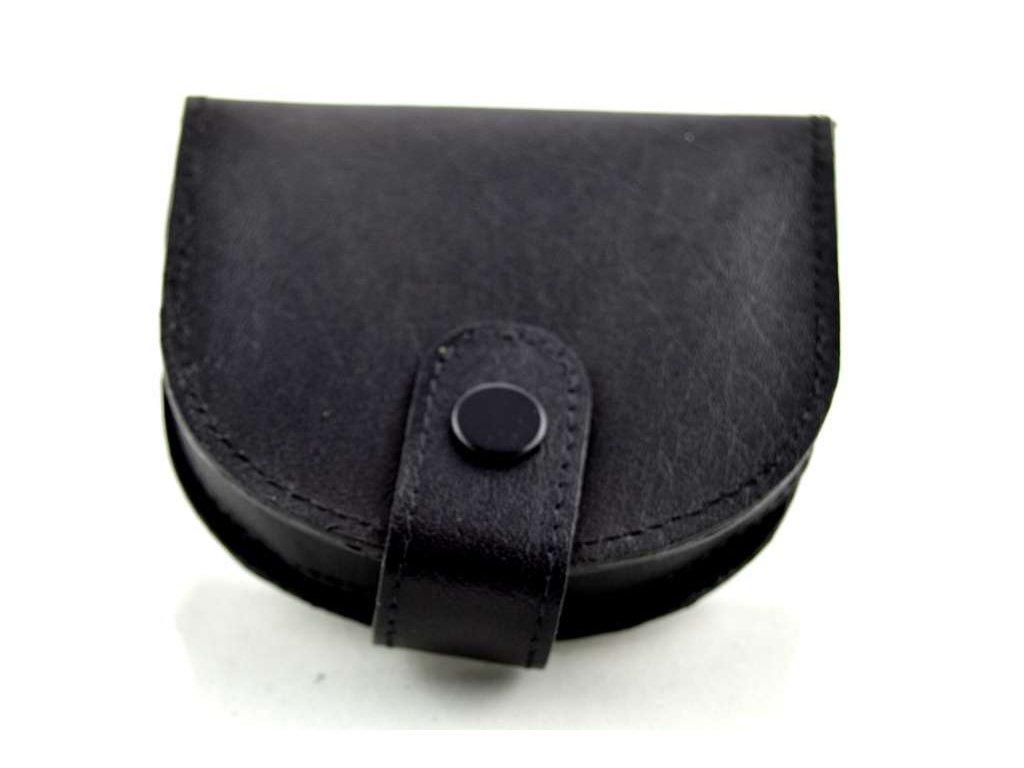 Kožená korunovka - černá