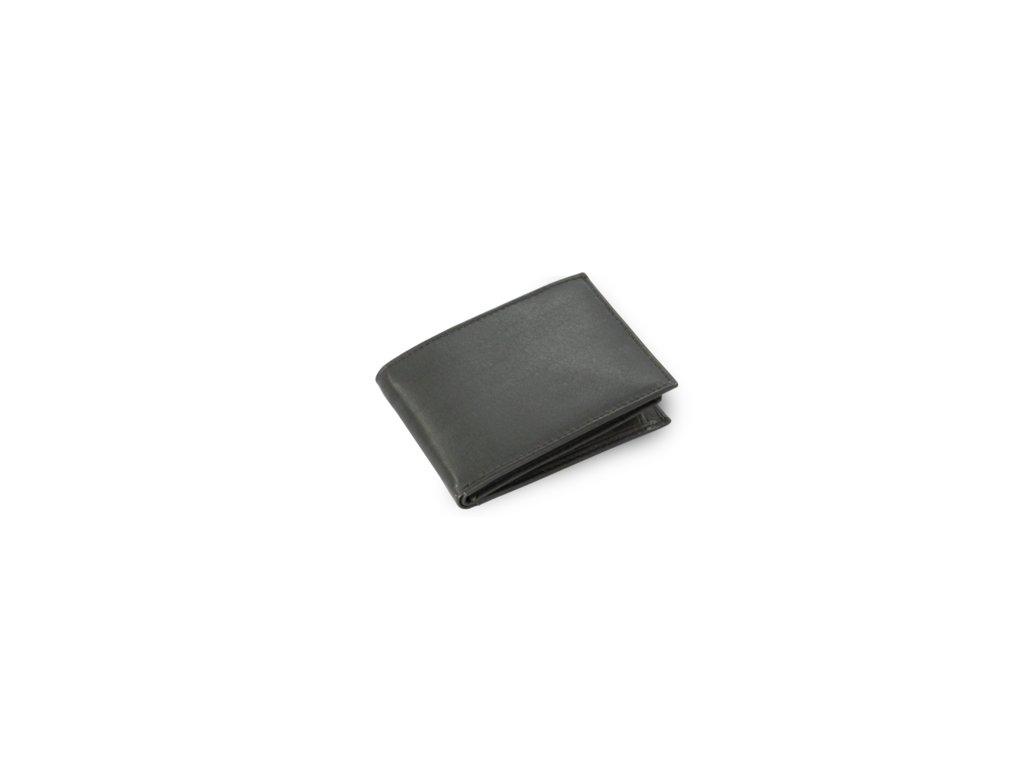 Kožená mini peněženka Arwel - černá