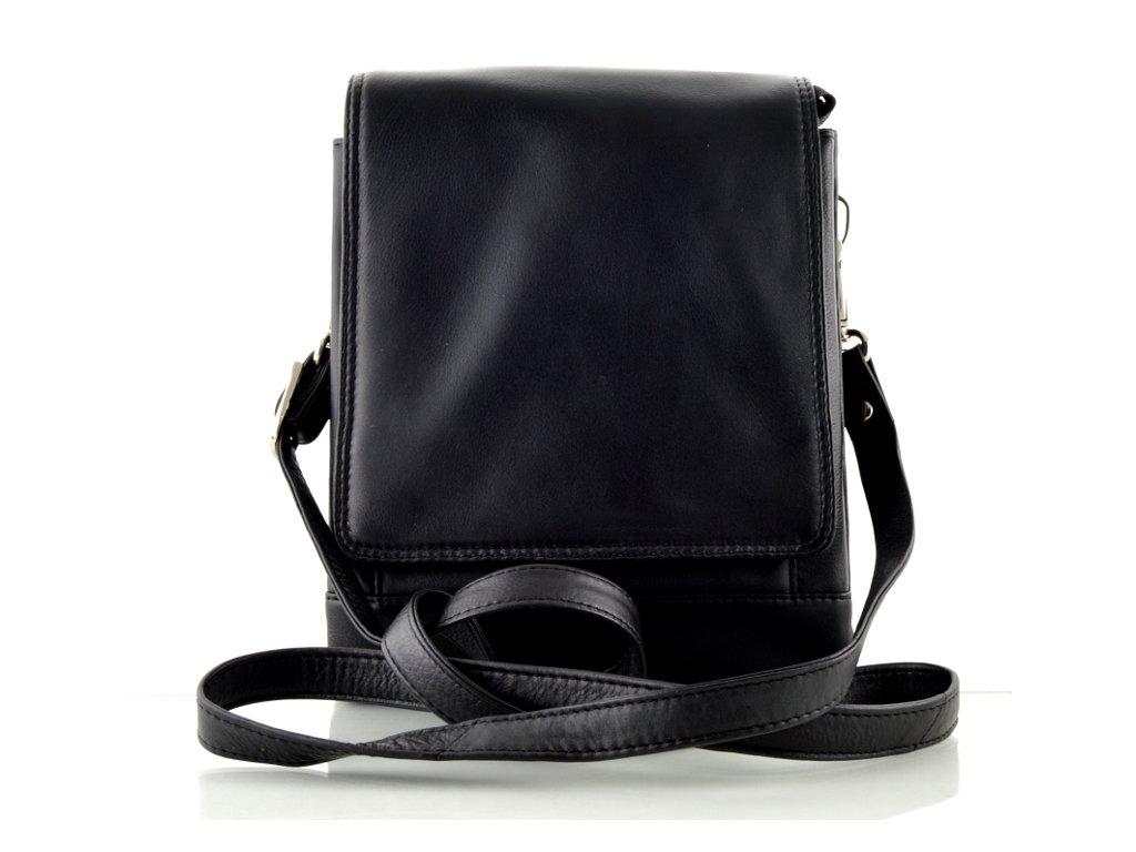 Kožená taška přes rameno Arwel - černá