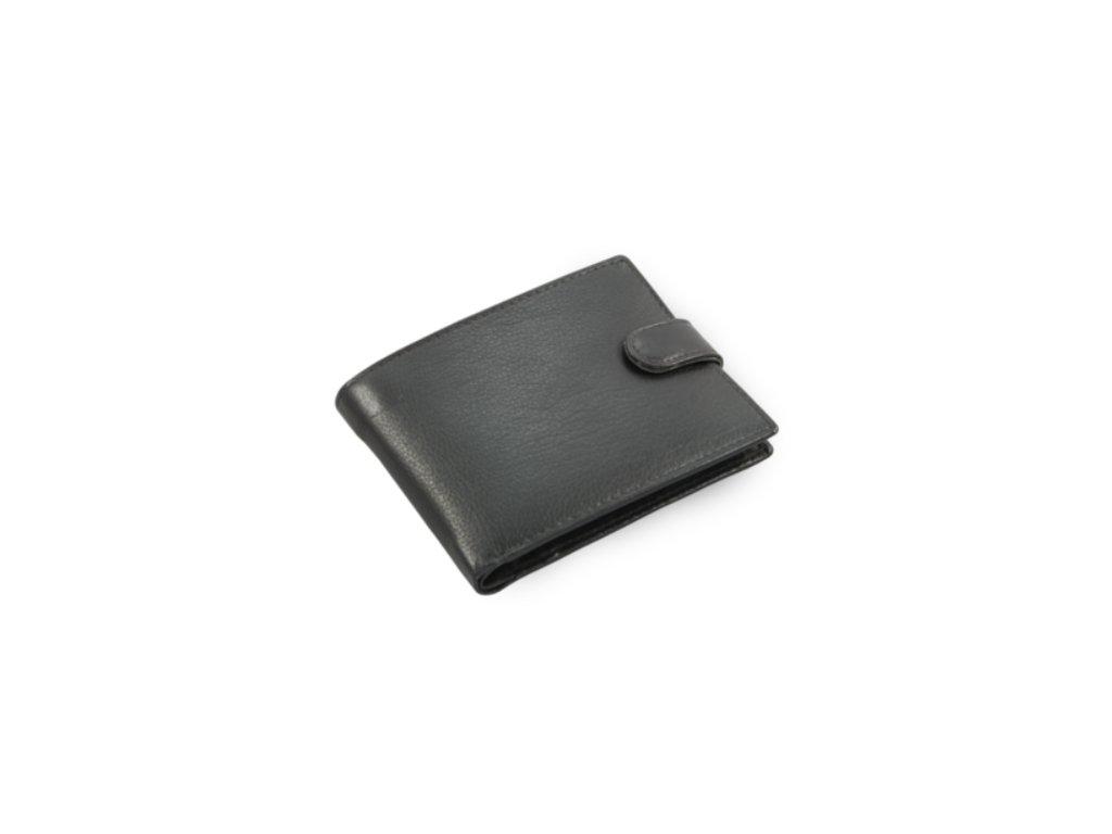 Pánská kožená peněženka s přezkou Arwel - černá