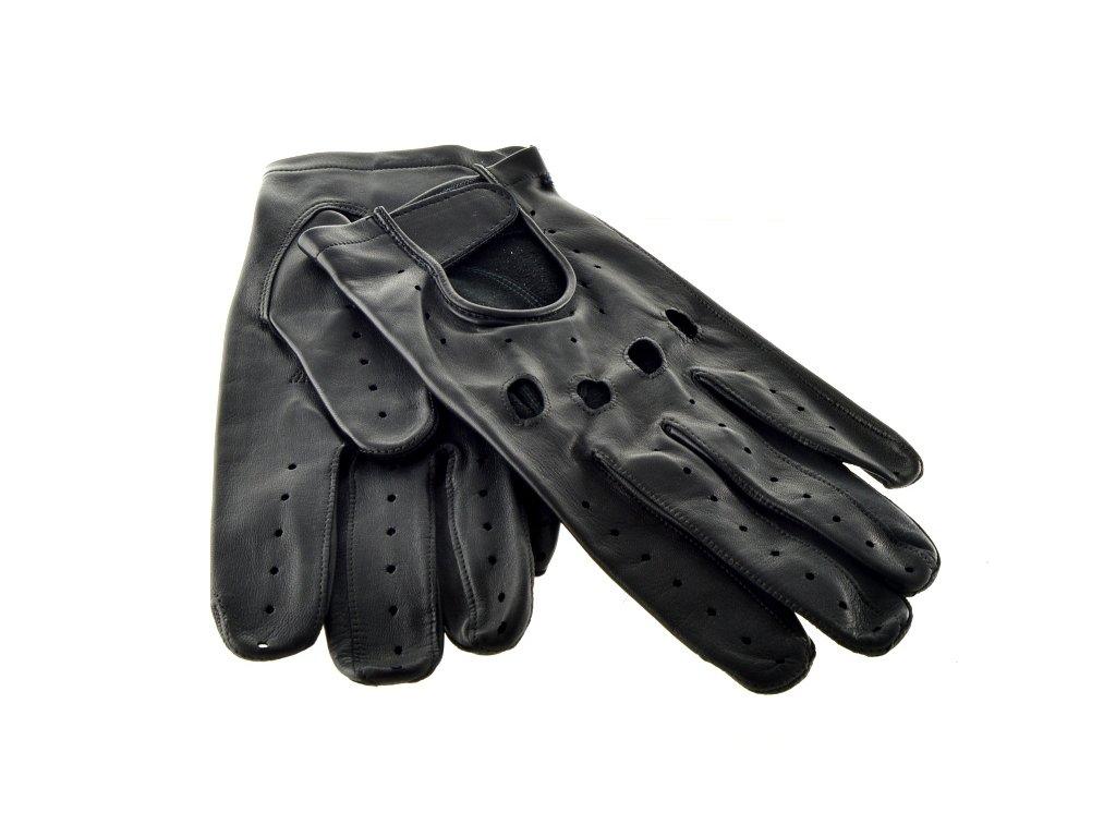 Pánské kožené rukavice Napa pro řidiče - černé - Elegancedoruky.cz 280e0bd614