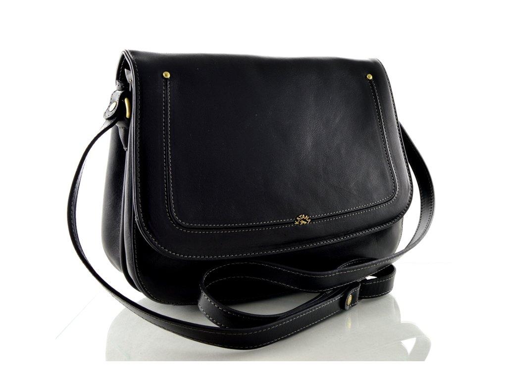 Klopnová kabelka Katana - černá
