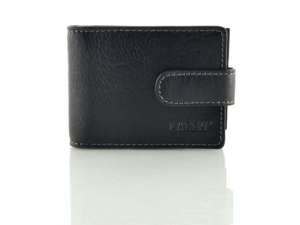 Kožené pouzdro na vizitky, platební karty - černé