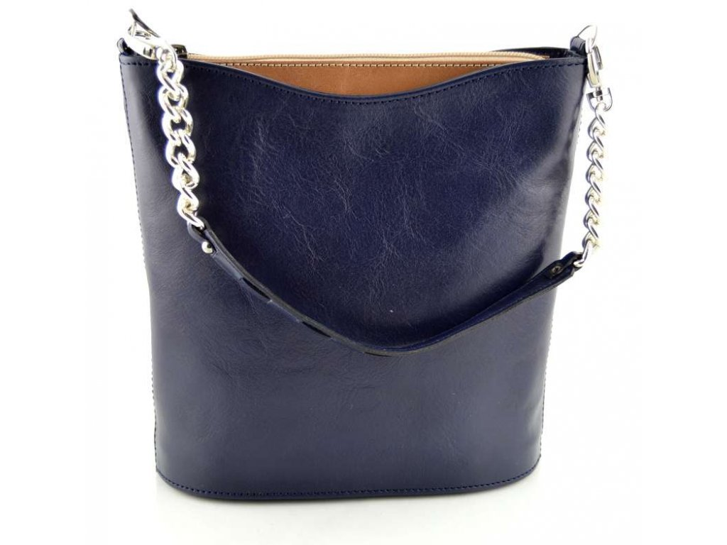 Malá elegantní kabelka Silvercase - modro hnědá