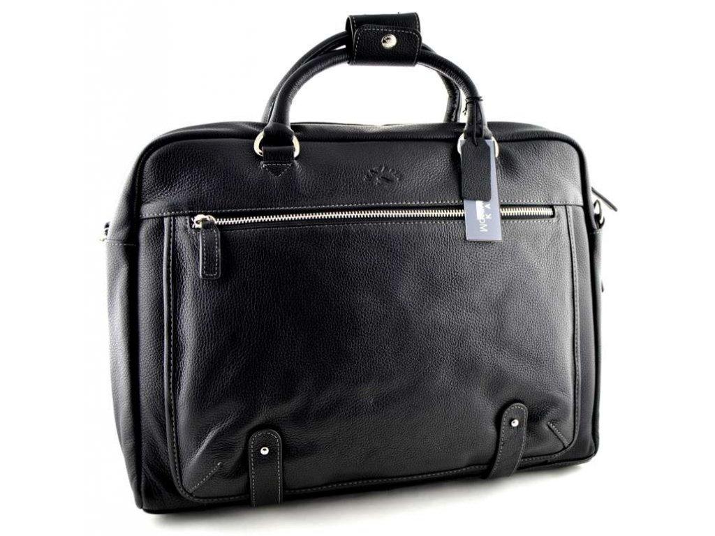 Manažerská kožená taška Katana - černá
