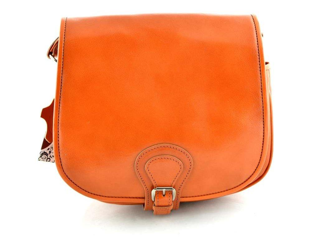 Klopnová lovecká kožená taška Silvercase - oranžová