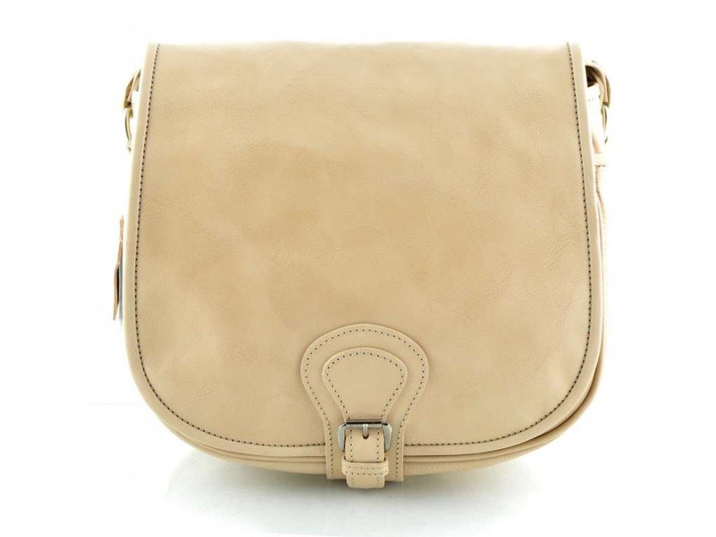 Klopnová lovecká kožená taška Silvercase - světle béžová