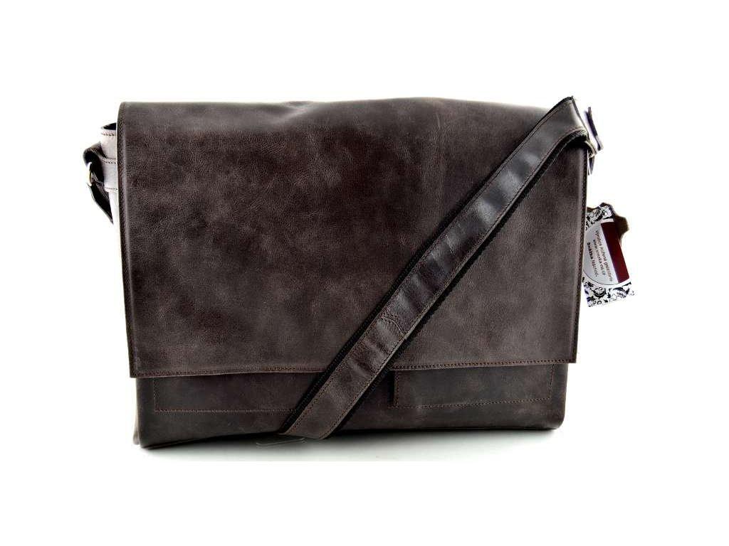 Klopnová taška přes rameno Silvercase - hnědá