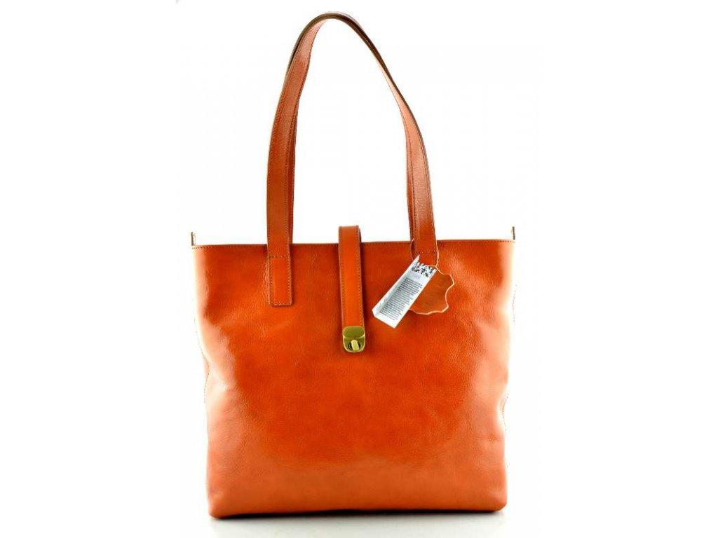Velká kožená kabelka Silvercase - oranžová