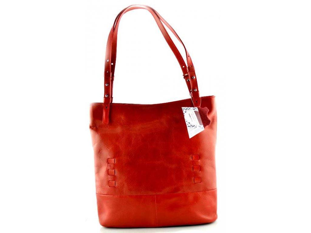 Elegantní kožená kabelka Silvercase - červená