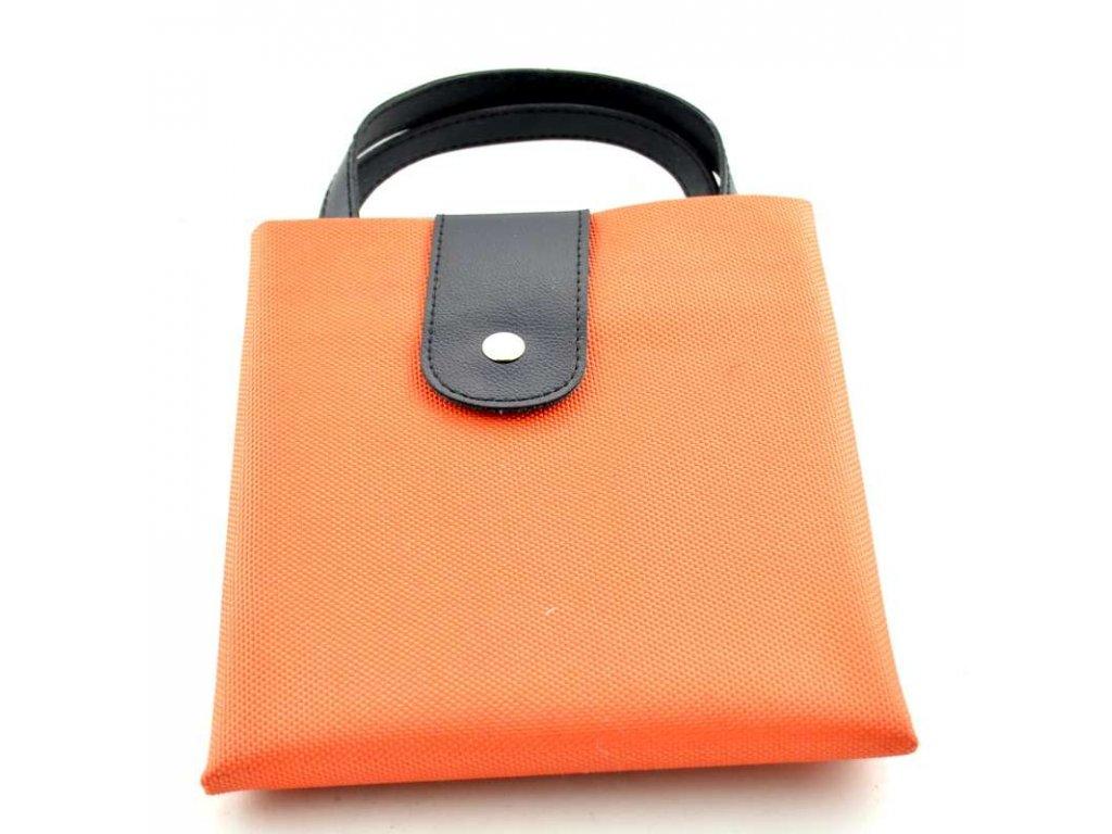 Pevná textilní taška - oranžová