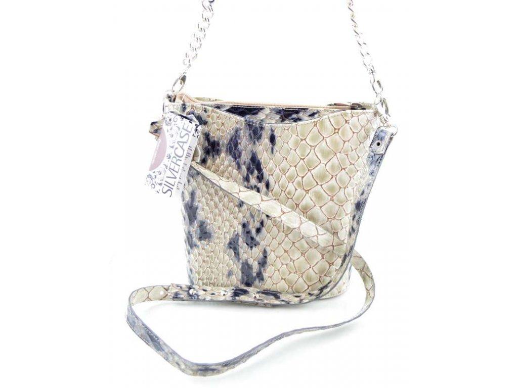 Malá elegantní kabelka s hadím vzorem