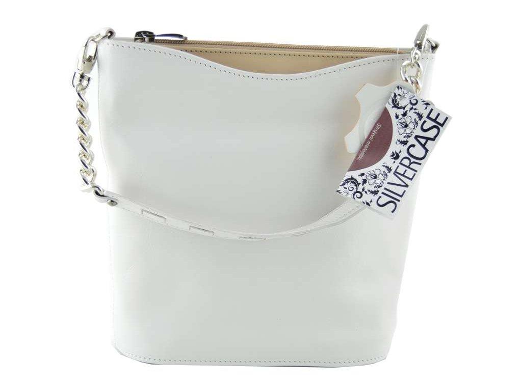 Malá elegantní kabelka Silvercase - bílobéžová