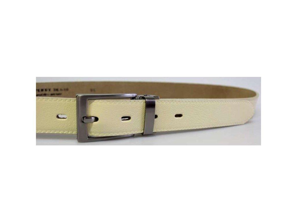 Společenský světle béžový kožený opasek - Penny Belts
