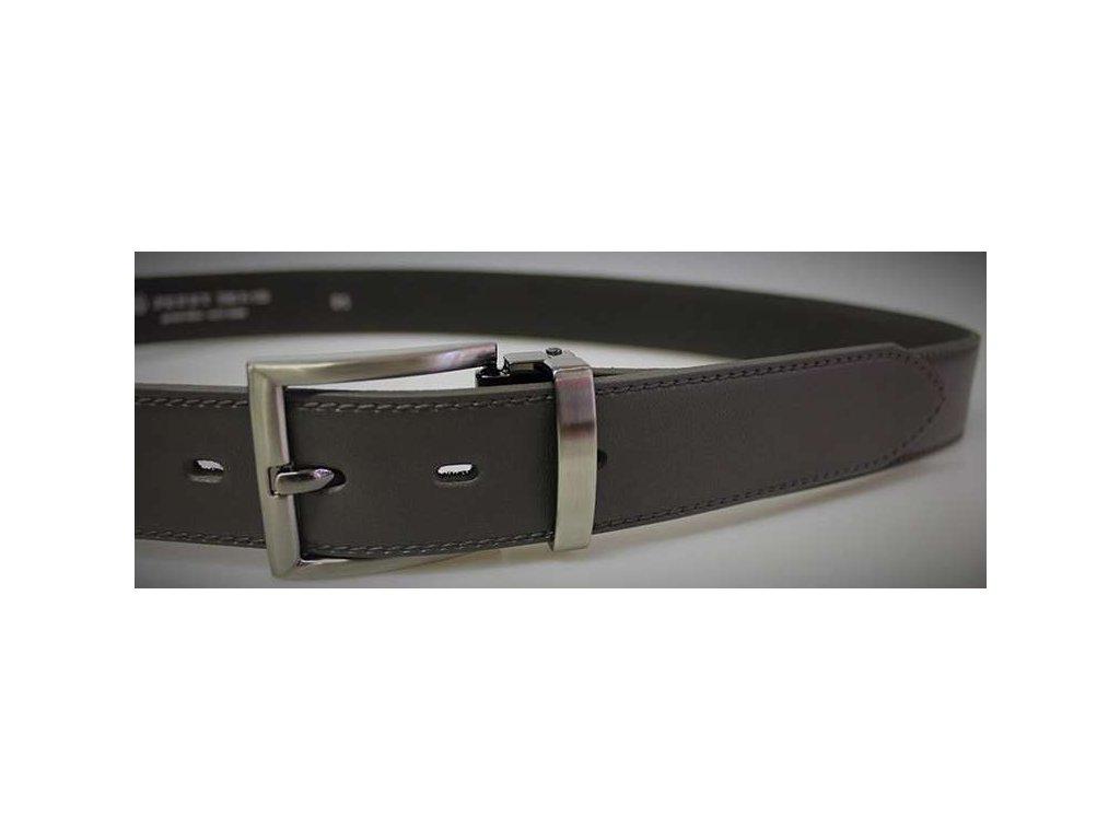 Společenský šedý kožený opasek - Penny Belts