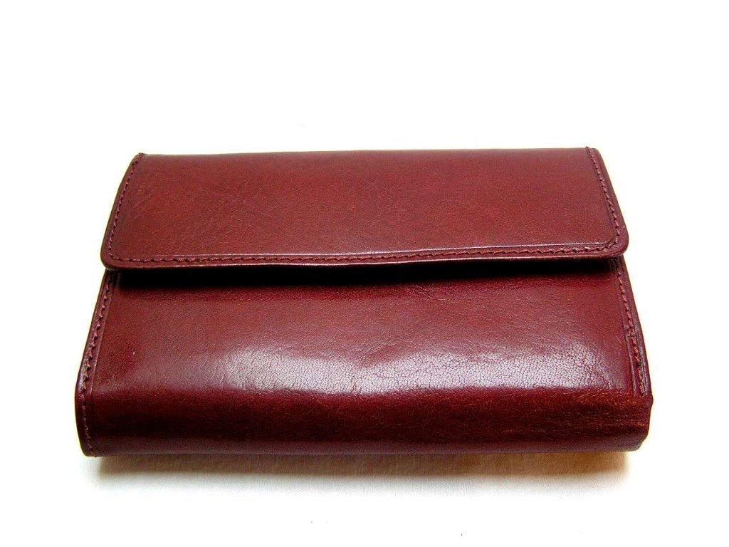 Klasická dámská peněženka - vínová