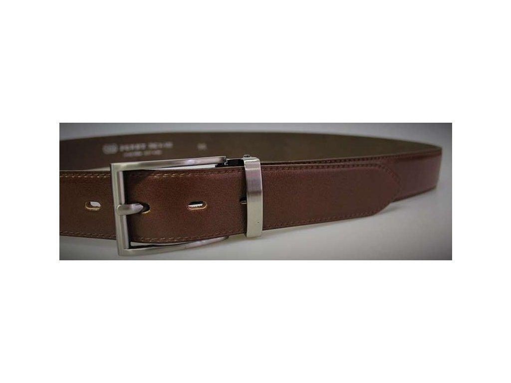 Společenský hnědý kožený opasek - Penny Belts