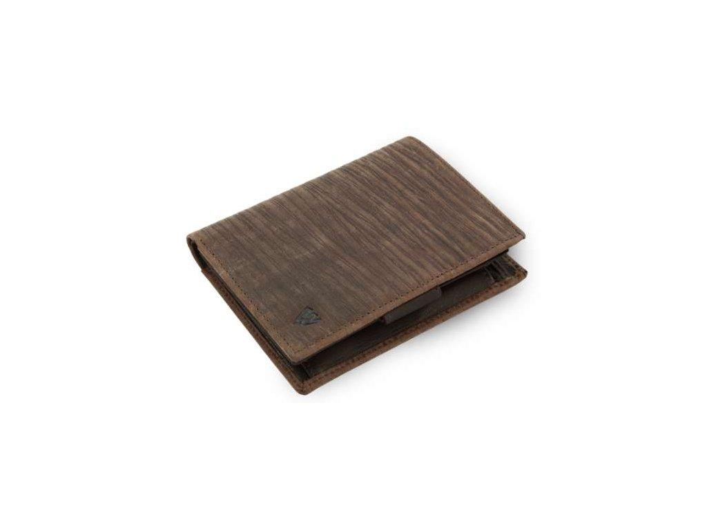 Kožená peněženka Bamboo Arwel - hnědá