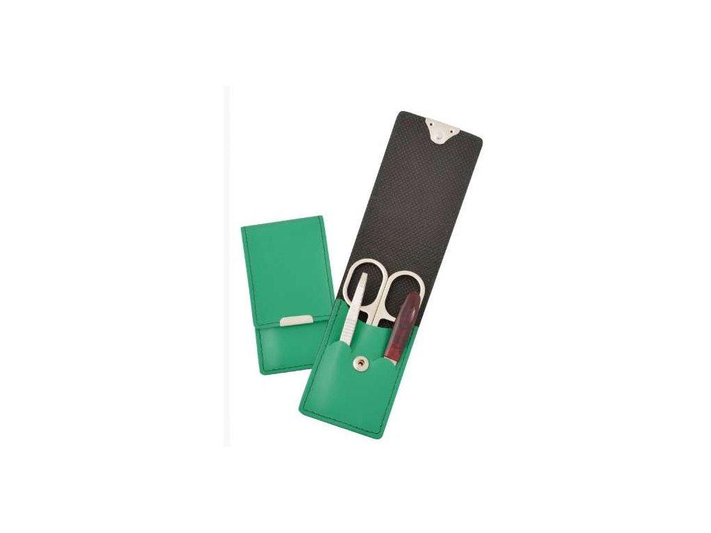 Mini kožená manikúra DUP - zelená