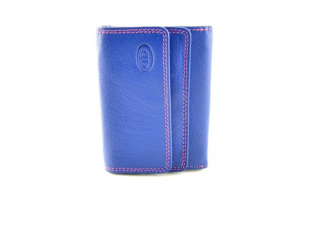 Malá kožená peněženka - modrá