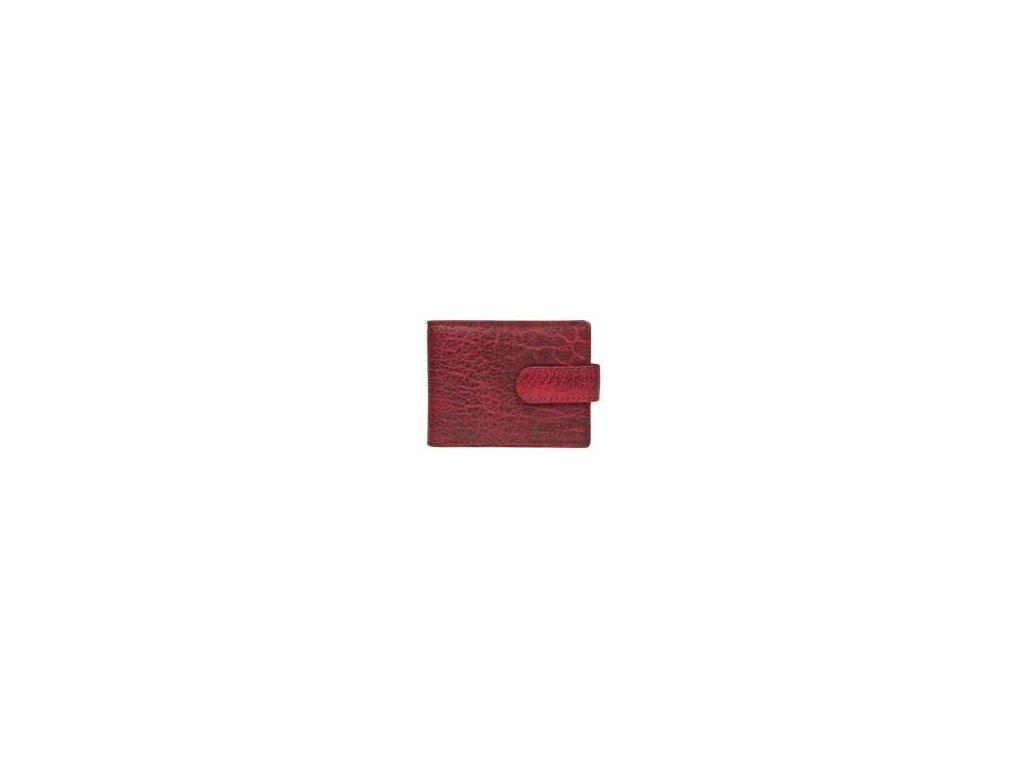 Kožené pouzdro na vizitky, platební karty - červené