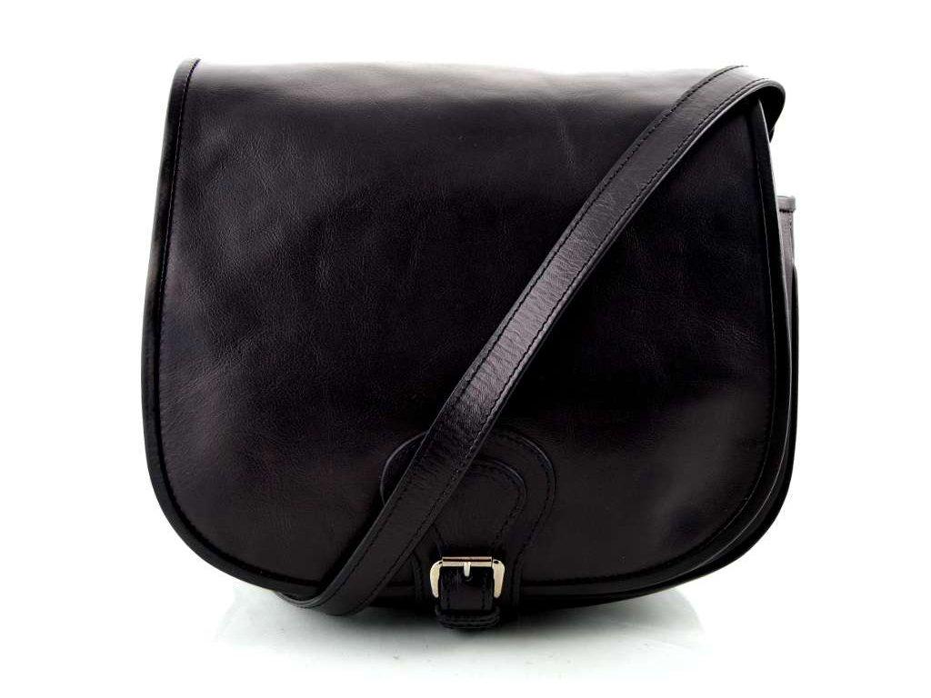 Klopnová lovecká kožená taška Silvercase - černá