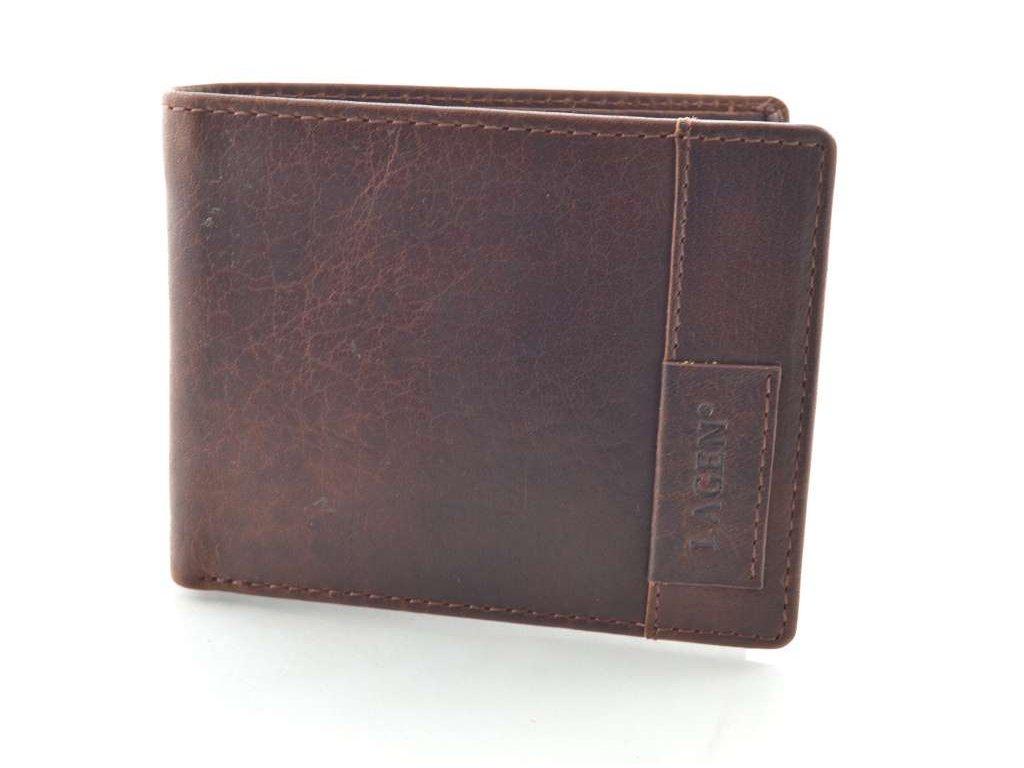 Luxusní pánská peněženka,dokladovka Lagen - hnědá