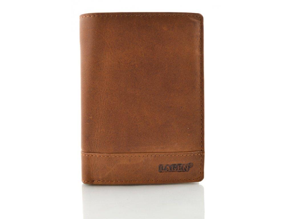 Kožená peněženka Lagen - světle hnědá