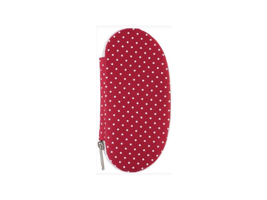 manikura z cerveneho textilu dup