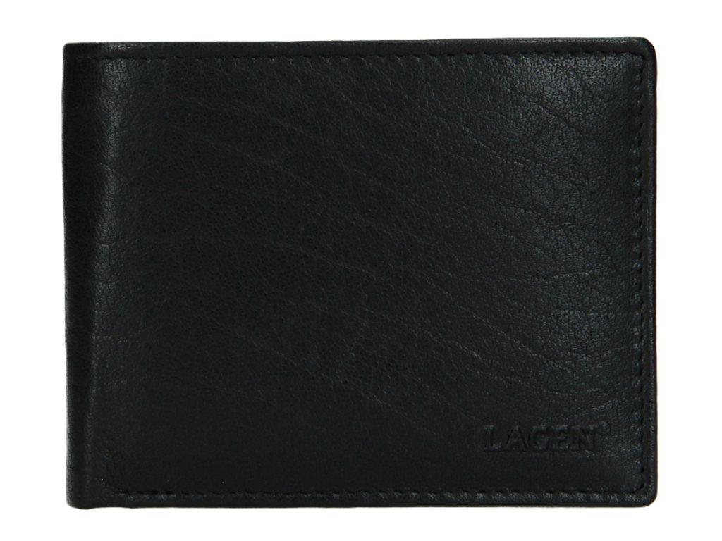 Klasická pánská kožená peněženka značky Lagen - černá