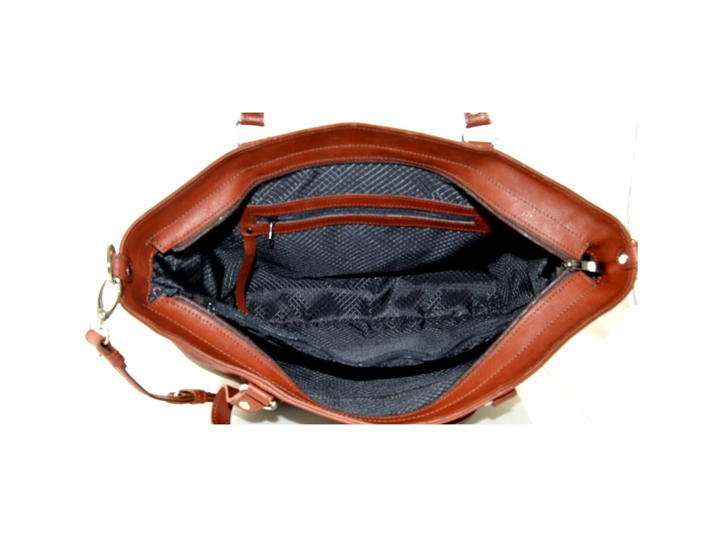 Velká kožená kabelka Silvercase - hnědá · Velká kožená kabelka Silvercase -  hnědá ... b706a6f5347