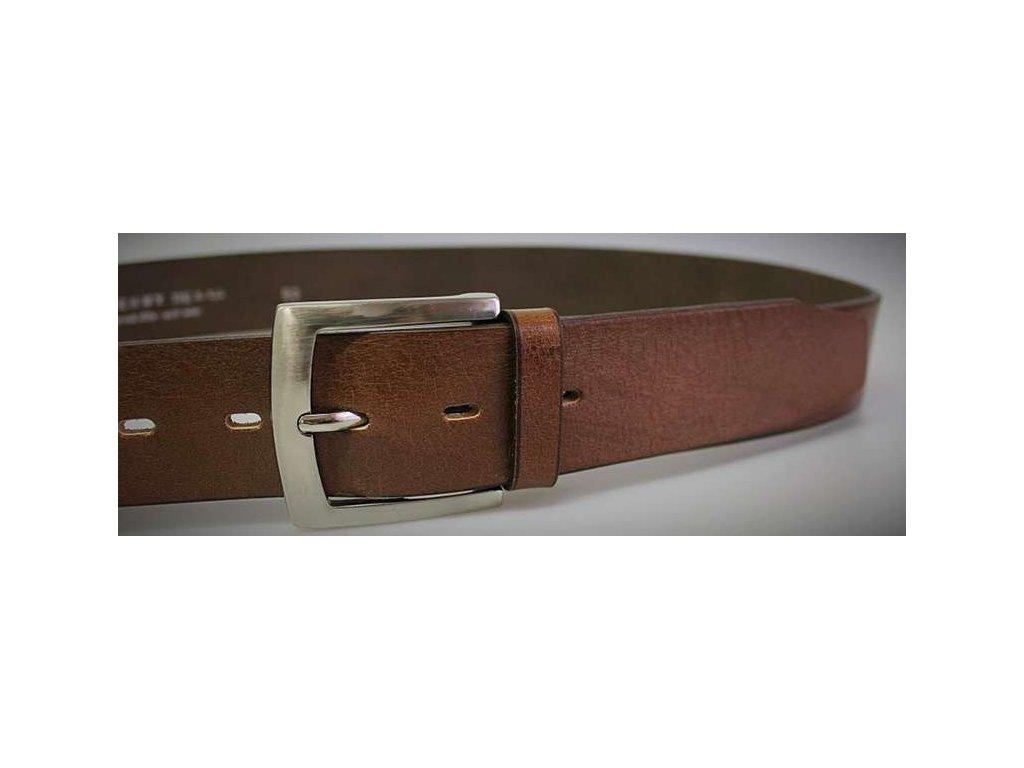 hnedy kozeny opasek penny belts