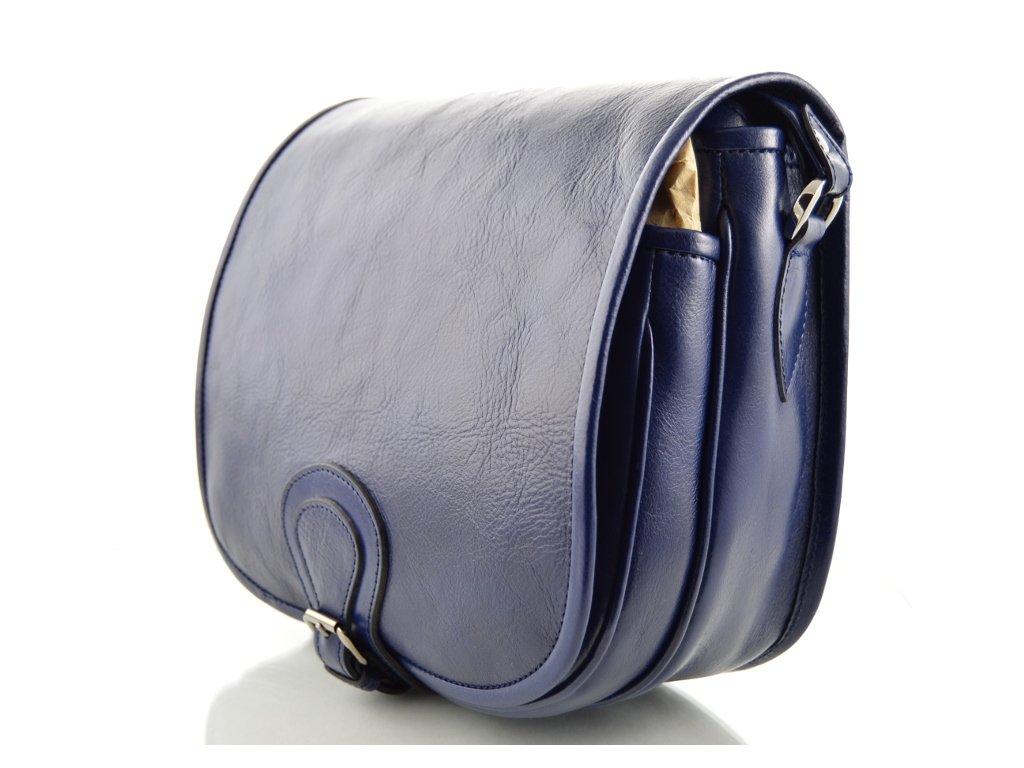 Klopnová lovecká kožená taška Silvercase - modrá