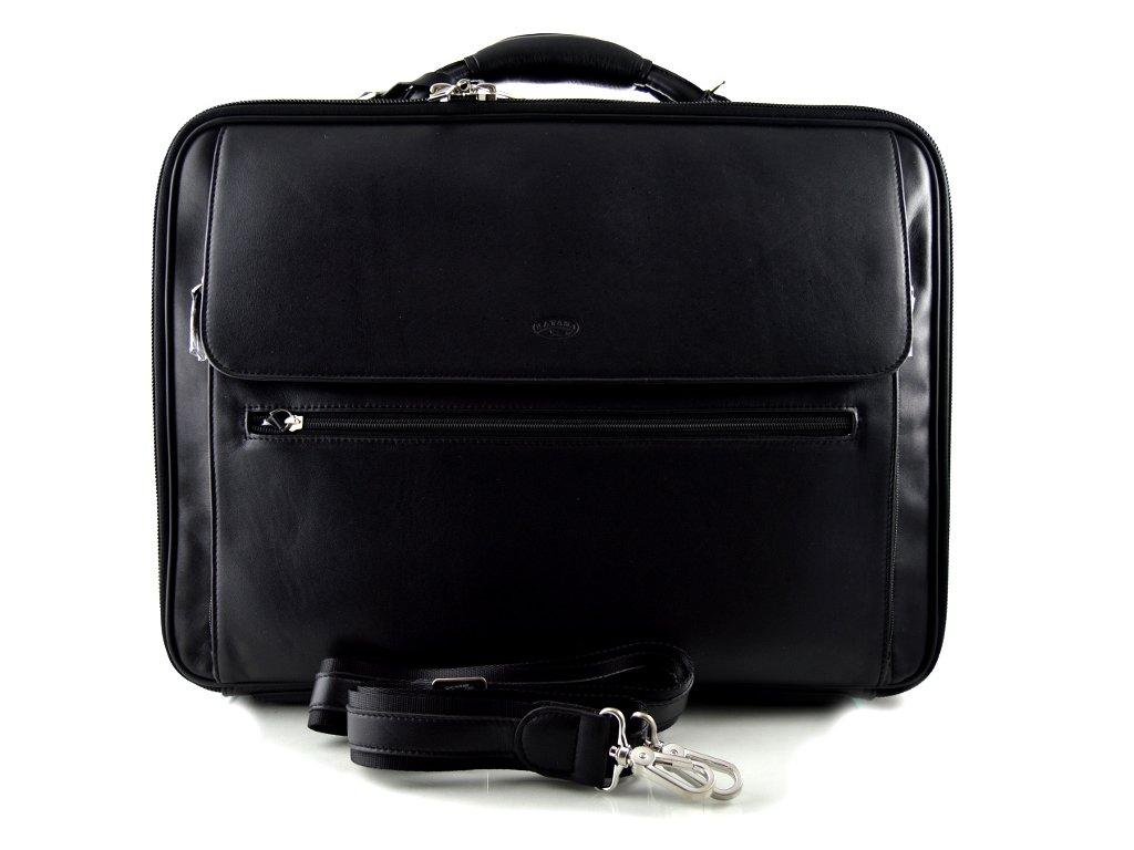 Luxusní kožený manažerský kufr katana  - černý