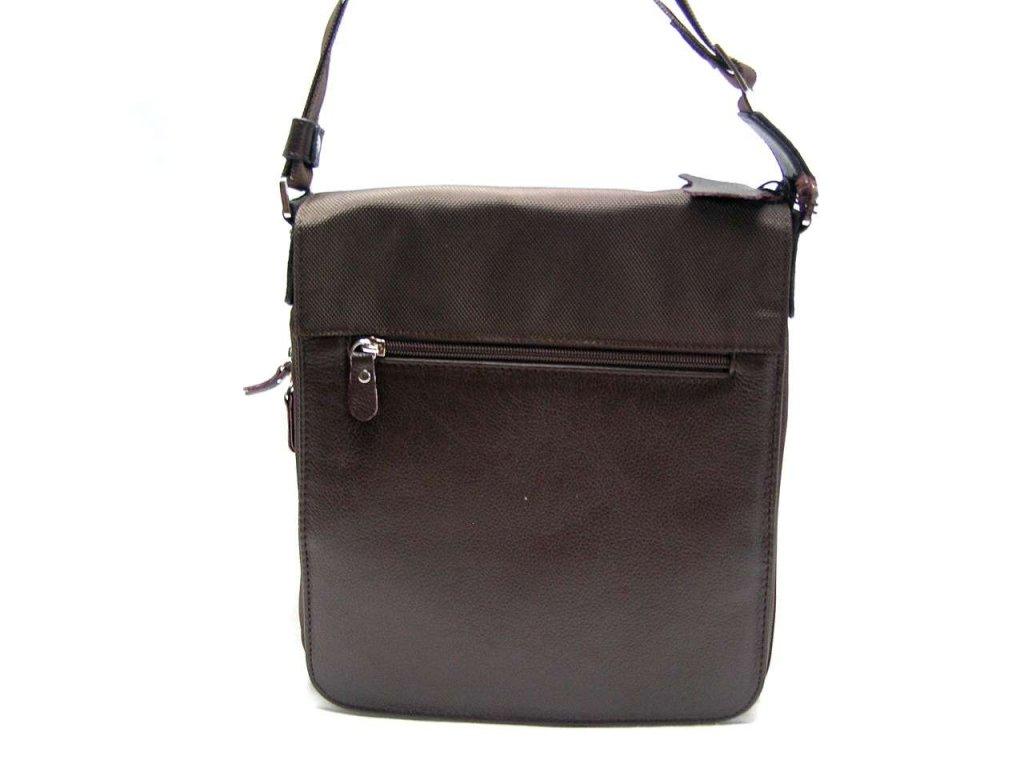 Klopnová taška přes remeno - hnědá