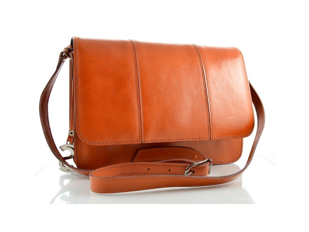 Klopnová kožená taška Silvercase - oranžová