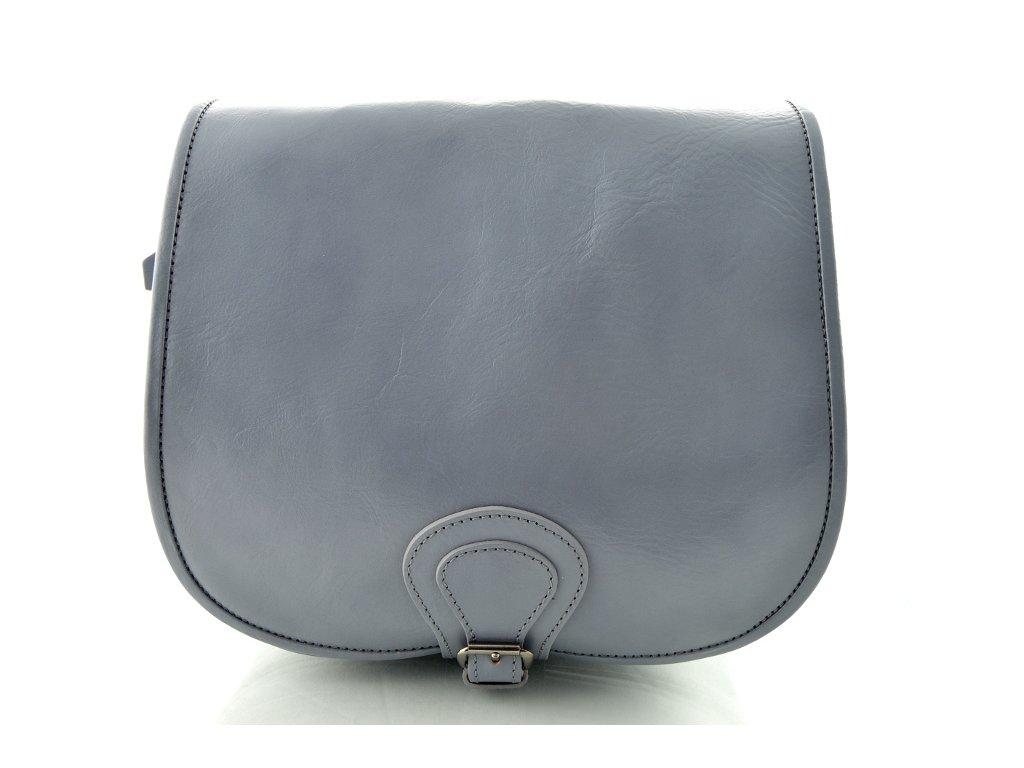 Klopnová lovecká kožená taška Silvercase - holubí šeď