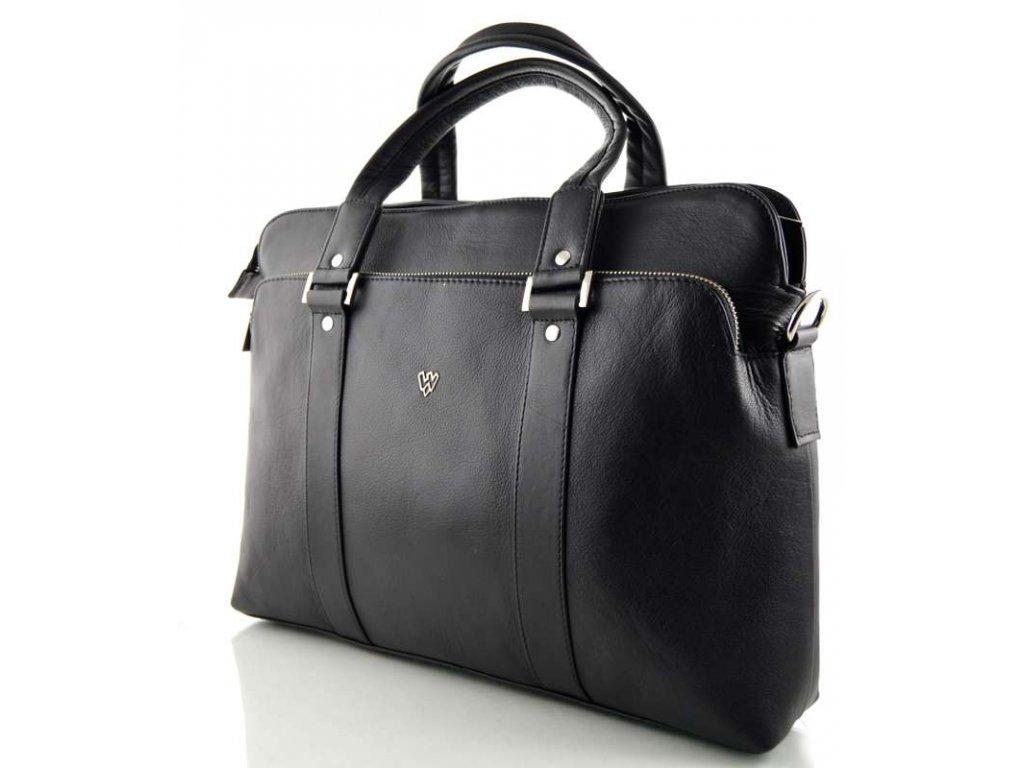 Manažerská kožená taška Arwel- černá