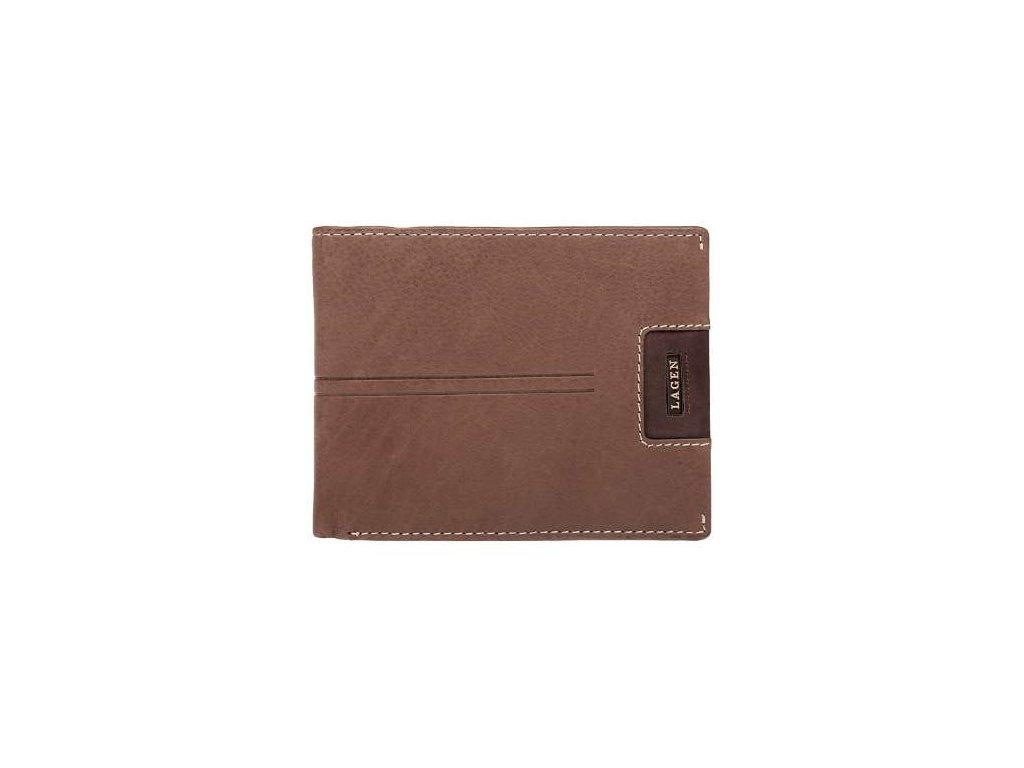Pánská kožená peněženka značky Lagen - hnědá