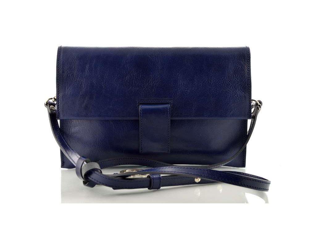 Kožené psaníčko Silvercase - tmavě modré