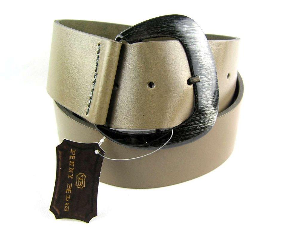 Šedý široký dámský opasek - Penny Belts