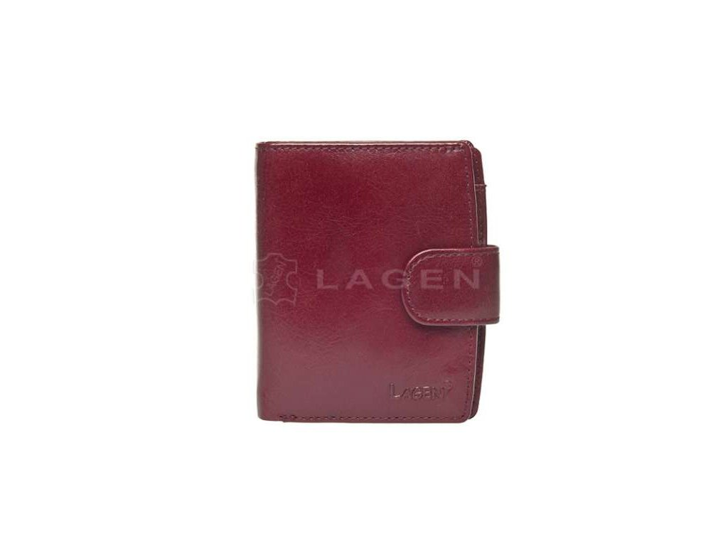 Kožená peněženka Lagen - vínová