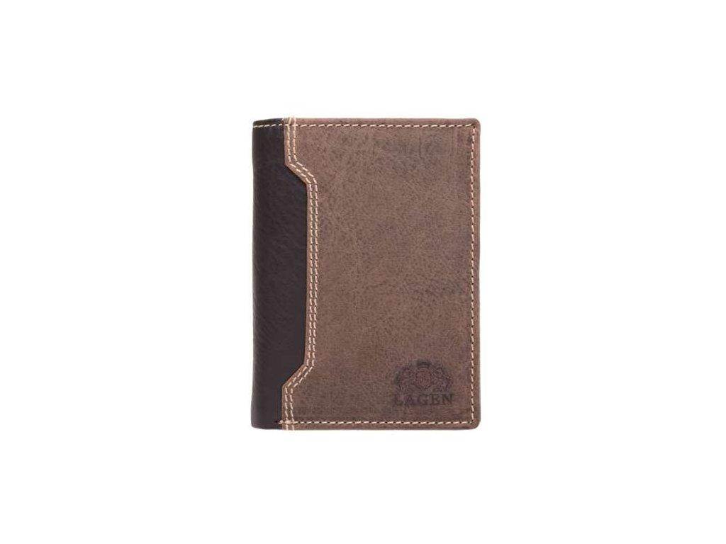 Luxusní kožená peněženka značky Lagen - tmavě hnědá