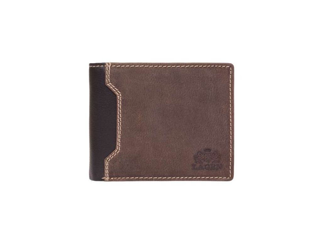 Luxusní kožená peněženka značky Lagen - hnědá