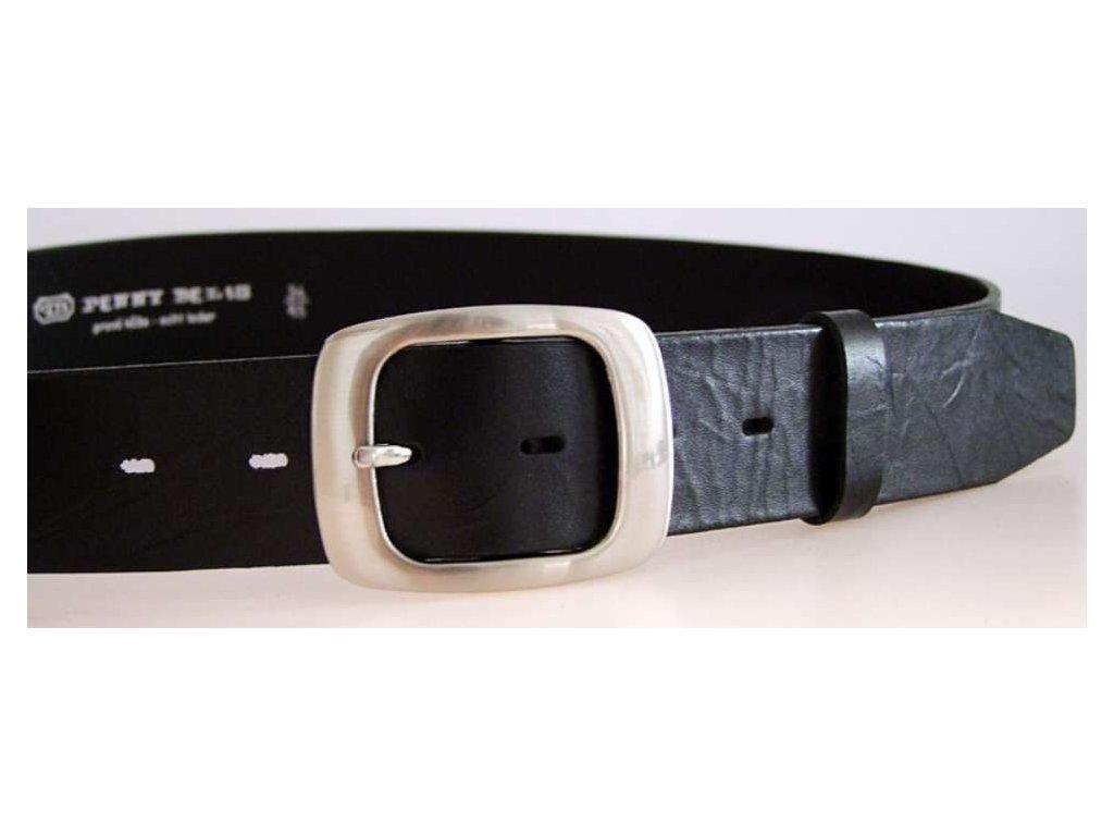Černý kožený dámský opasek - Penny Belts